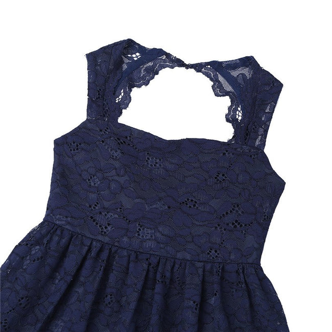 Girls navy lace dress up to age 14 years-Fabulous Bargains Galore