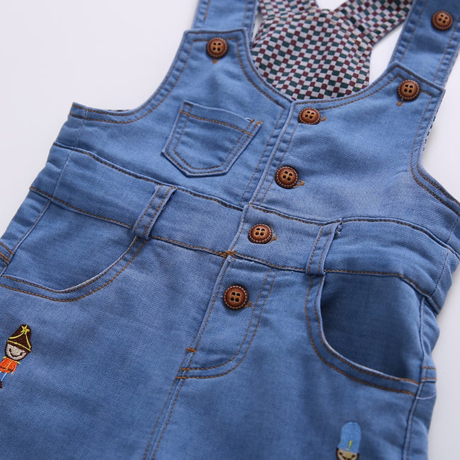 Blue toddler boy overall shorts-Fabulous Bargains Galore