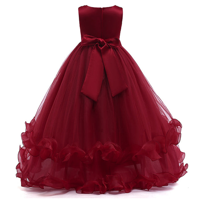 Girls red bridesmaid dress up to age 12 years-Fabulous Bargains Galore