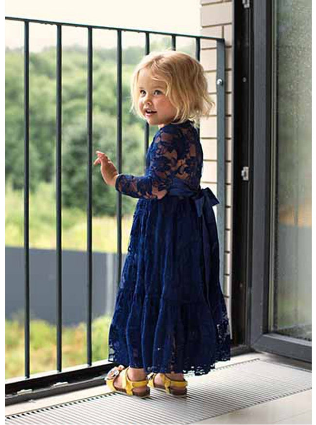 Girls blue lace dress up to age 10 years-Fabulous Bargains Galore