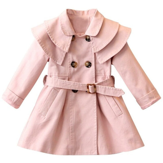 Pink girls trench coat-Fabulous Bargains Galore