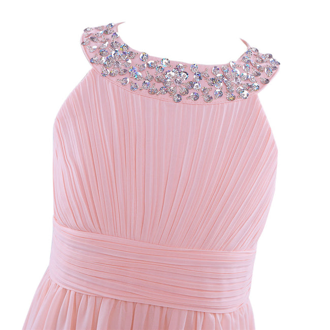 Little girl pink bridesmaid dress up to age 14 years-Fabulous Bargains Galore