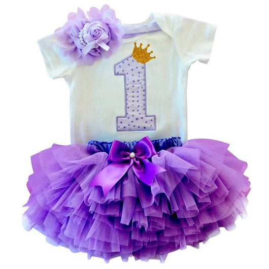 Princess first birthday outfit for girls in purple-Fabulous Bargains Galore
