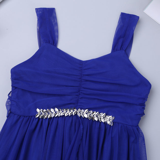 Girls long blue dress up to age 16 years-Fabulous Bargains Galore