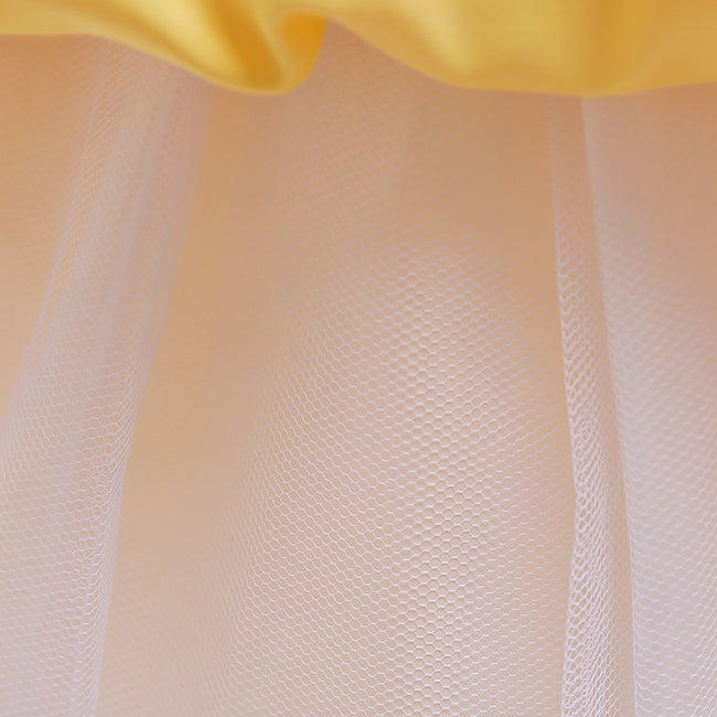 Satin flower girl dress with pleated waist and hem-Fabulous Bargains Galore
