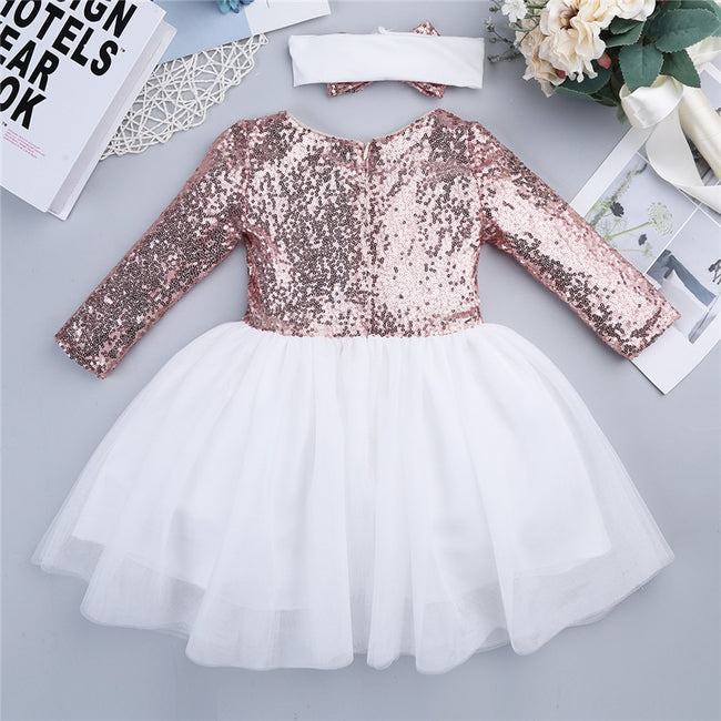Girls pink sequin dress up to age 8 years-Fabulous Bargains Galore