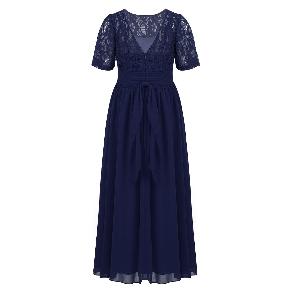 Girls Navy Chiffon Dress