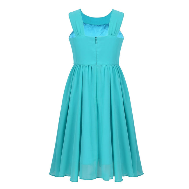 Turquoise blue flower girl dress up to age 14 years-Fabulous Bargains Galore