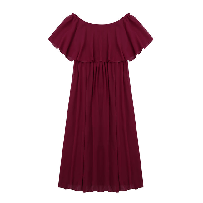 Flower girl maroon dress up to age 16 years-Fabulous Bargains Galore