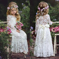 Ivory lace flower girl dresses vintage up to age 5 years-Fabulous Bargains Galore
