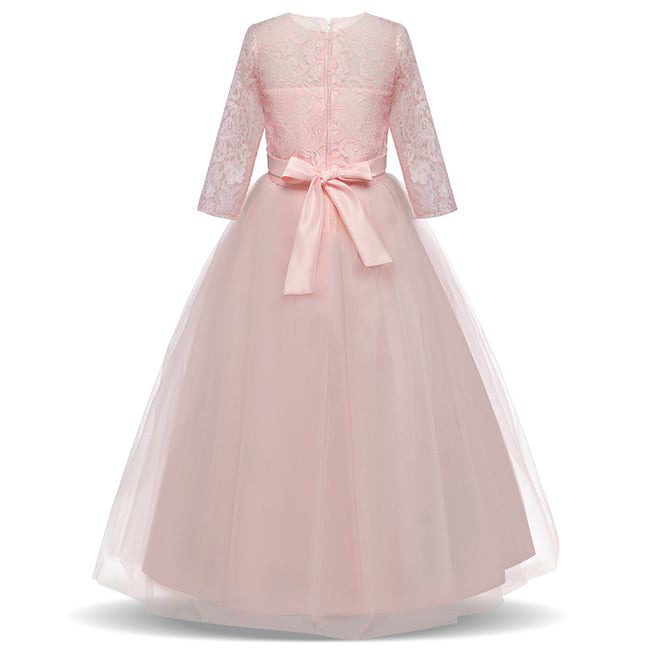 Long Girls pink princess gown-Fabulous Bargains Galore