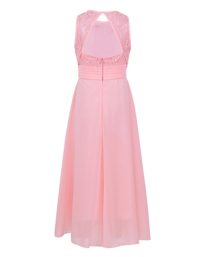 Pearl pink flower girl dress for age 6 years-Fabulous Bargains Galore