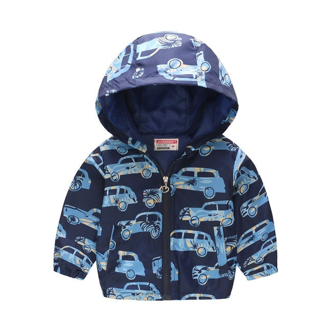 Boys lightweight hooded jacket up to age 7 years-Fabulous Bargains Galore