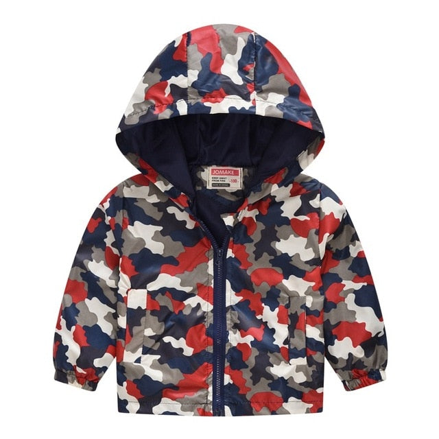 Boys lightweight jacket in red up to 7 years-Fabulous Bargains Galore