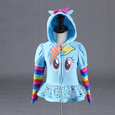 Blue my little pony rainbow dash hoodie-Fabulous Bargains Galore