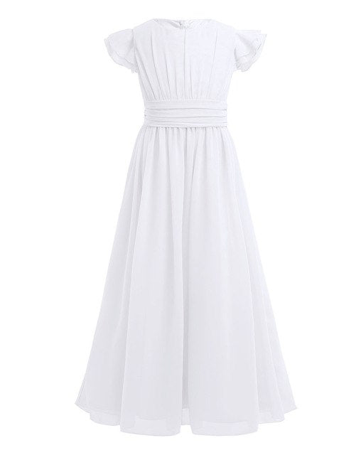 White ivory flower girl dress up to age 14 years-Fabulous Bargains Galore