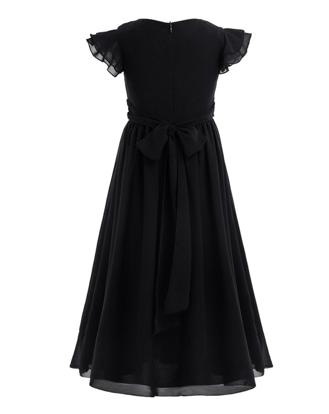 Girls black bridesmaid dress up to age 14 years-Fabulous Bargains Galore