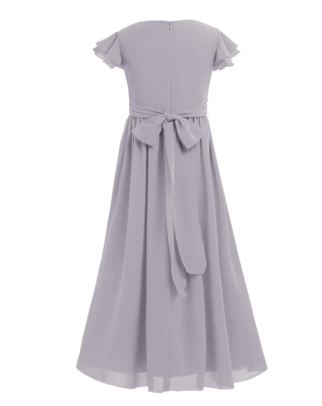 Grey silver flower girl dress up to age 14 years-Fabulous Bargains Galore