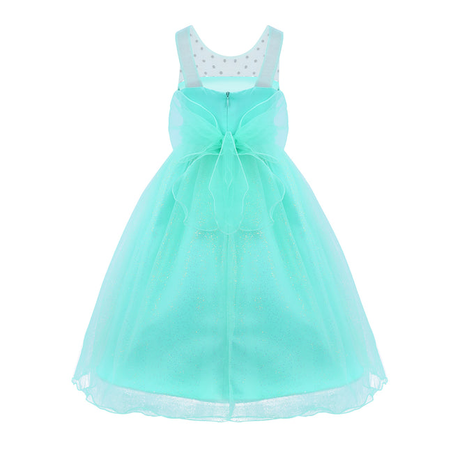Mint green gown for flower girl up to age 14 years-Fabulous Bargains Galore