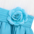 Ivory and blue flower girl dresses up to age 14 years-Fabulous Bargains Galore