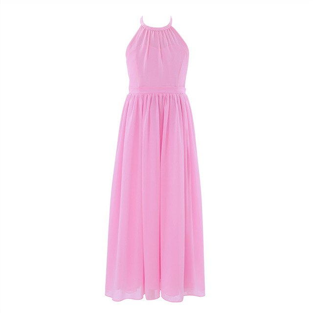 Long pink dress for girls up to age 14 years-Fabulous Bargains Galore
