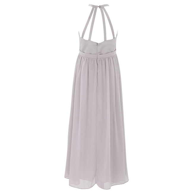 Light grey flower girl dress up to age 14 years-Fabulous Bargains Galore