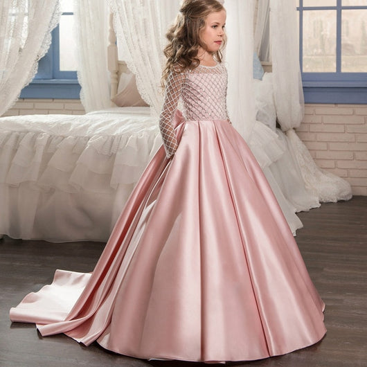 Long pink childrens princess dresses-Fabulous Bargains Galore
