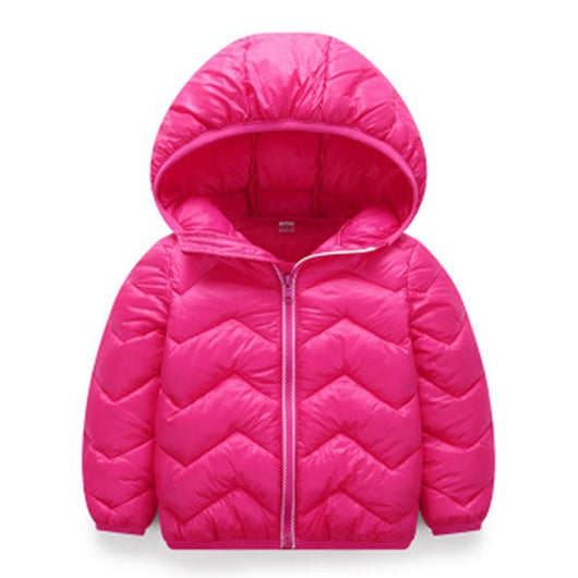 Zigzag pink girls quilted jacket-Fabulous Bargains Galore