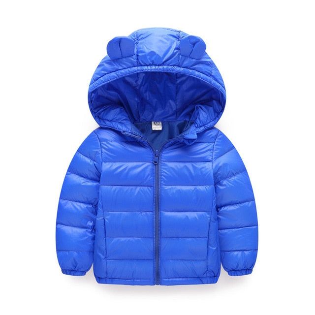 Warm blue boys puffer jacket-Fabulous Bargains Galore
