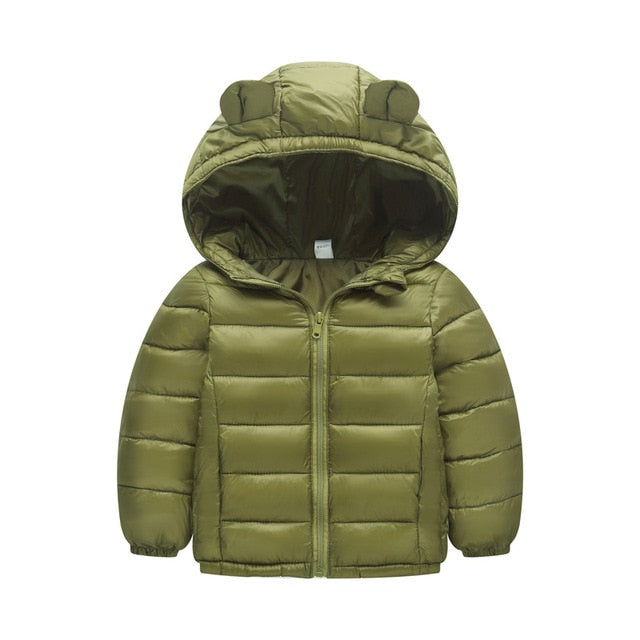Boys puffer coat in dark green up to 6 years-Fabulous Bargains Galore