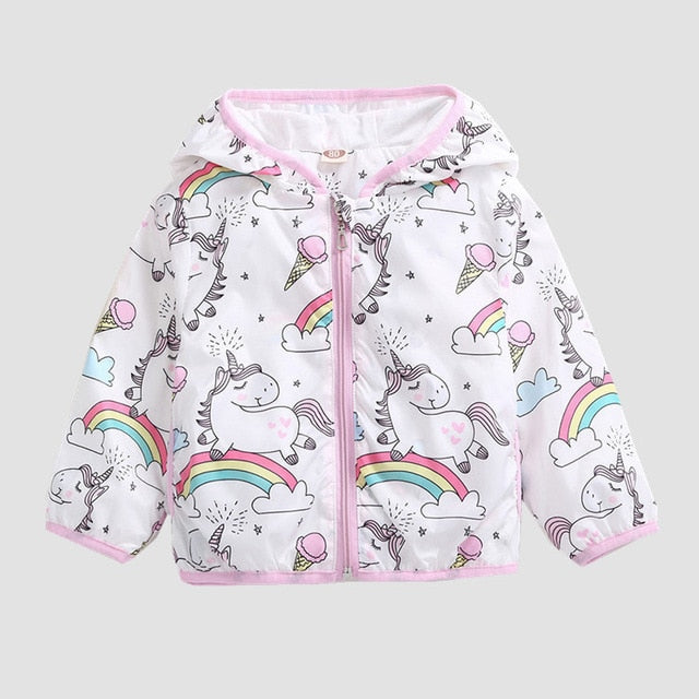 Girls unicorn denim jacket in blue up to age 10 years-Fabulous Bargains Galore