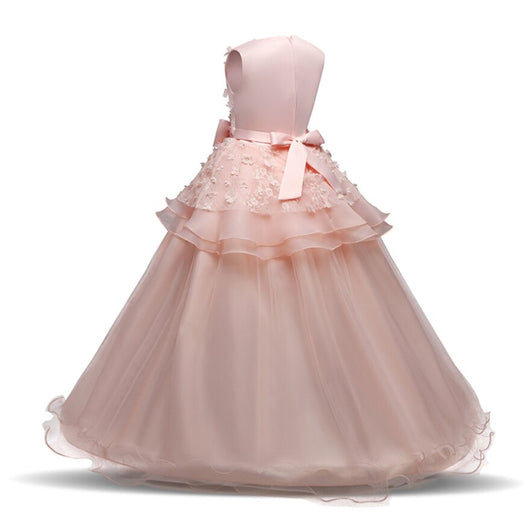 ab8fdf593 Sleeveless lace pink ball gown for kids – Fabulous Bargains Galore