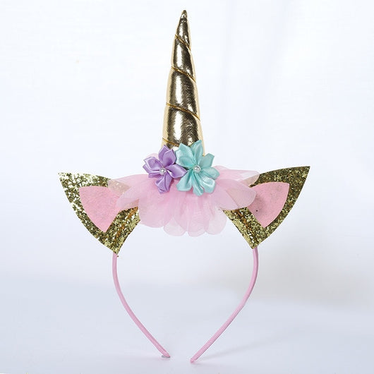 Gold unicorn horn headband-Fabulous Bargains Galore