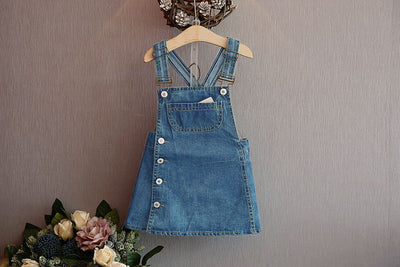Cute blue girls denim overall-Fabulous Bargains Galore
