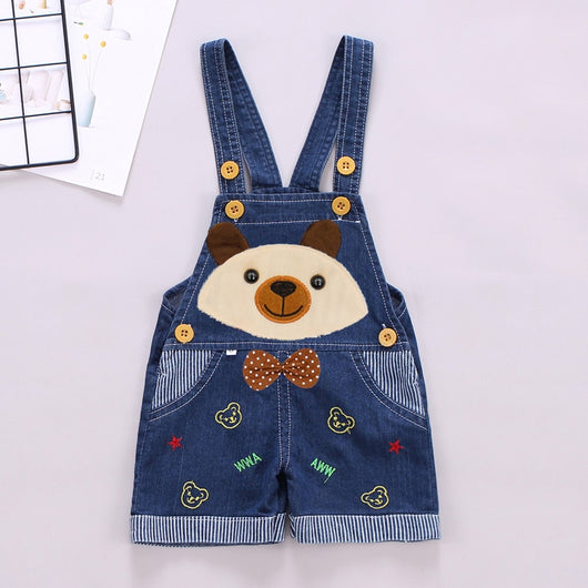 b323b41e8 Bear embroidered baby boy dungaree shorts – Fabulous Bargains Galore