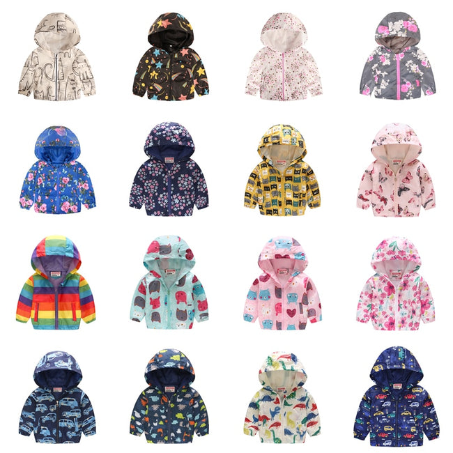 Girls rainbow raincoat up to age 7 years-Fabulous Bargains Galore