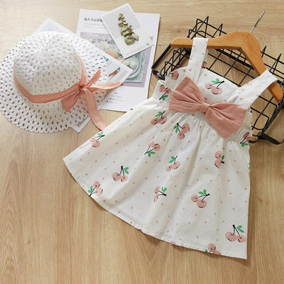 Cherry print little girl frock-Fabulous Bargains Galore