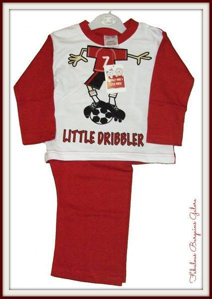 Cute Little Dribbler Print Boys Pajamas