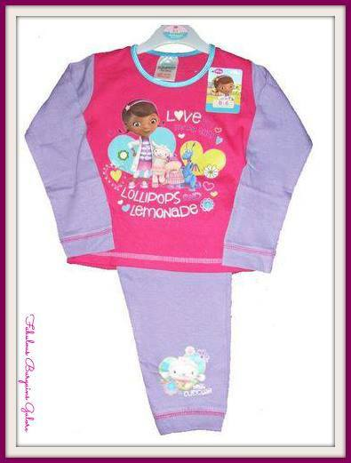 Official Disney Girls Doc Mcstuffins Pyjamas