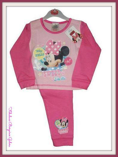 Official Disney Girls Minnie Mouse Pyjamas in Pink