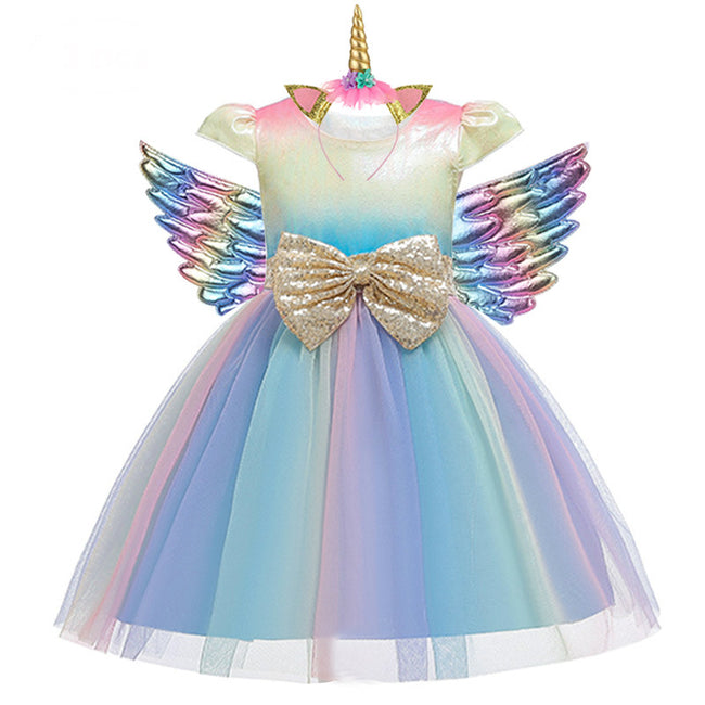 Rainbow party dress girl up to age 10 years-Fabulous Bargains Galore