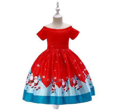 Cute silk girls xmas dresses 3-10 years-Fabulous Bargains Galore