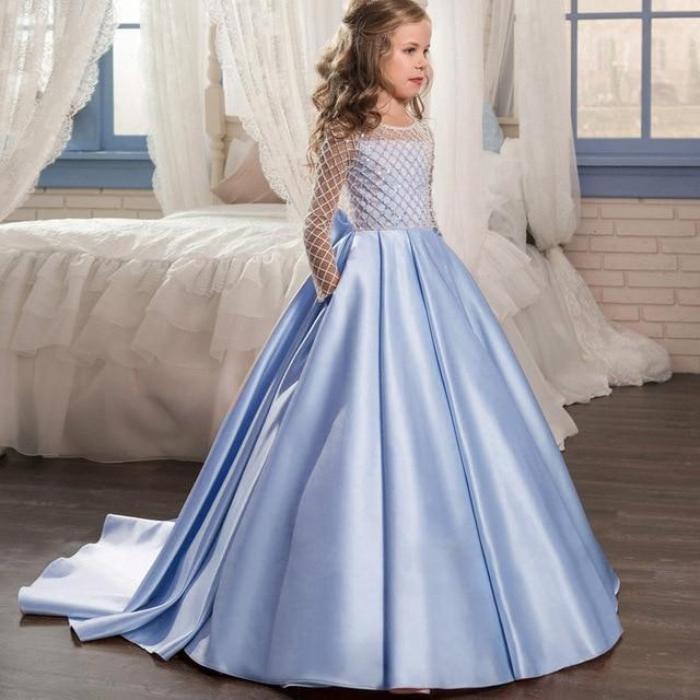 Satin flower girl dress up to age 12 years-Fabulous Bargains Galore