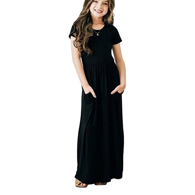 Toddler black maxi dress up to age 8 years-Fabulous Bargains Galore