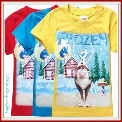 Frozen Olaf and Sven Boys Top-Fabulous Bargains Galore