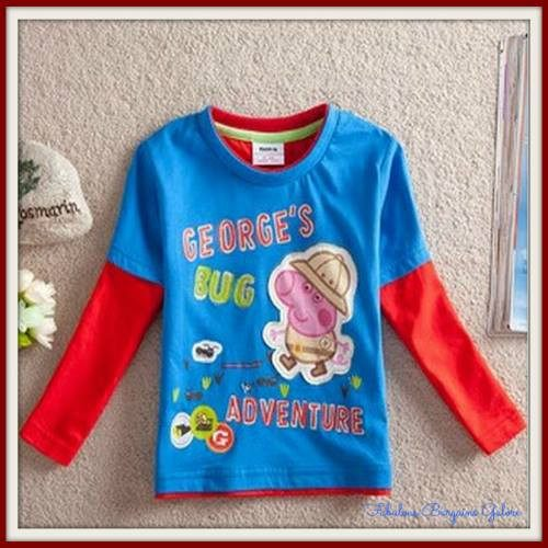 George Pig Bug Adventure Casual Boys Top