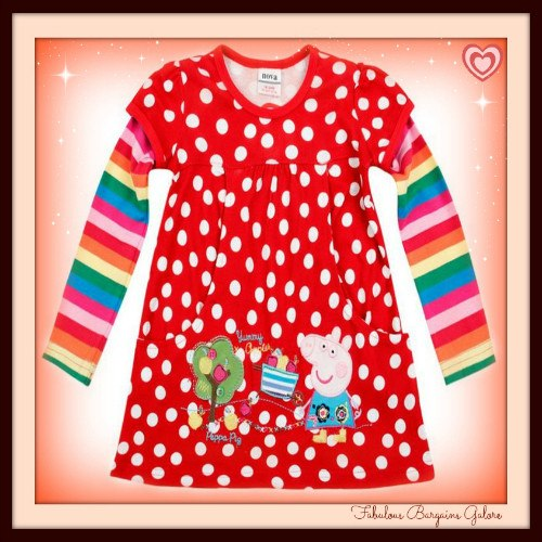 Polka Dots Red Long Sleeved Girls Top | Cheap Girls Clothes Online UK - Fabulous Bargains Galore