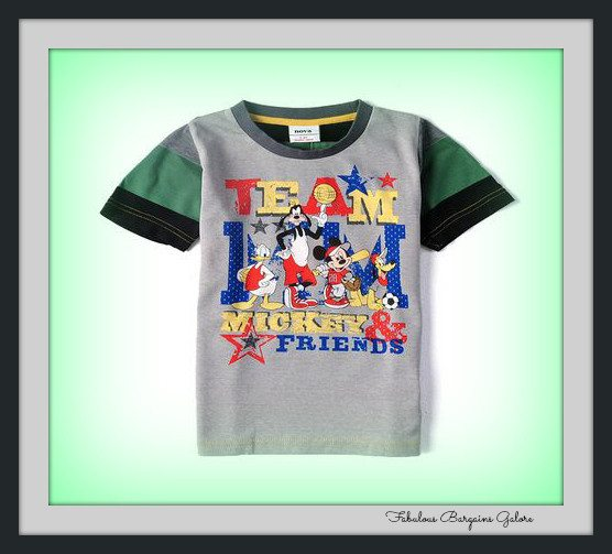 Team Mickey & Friends Boys Top-Fabulous Bargains Galore