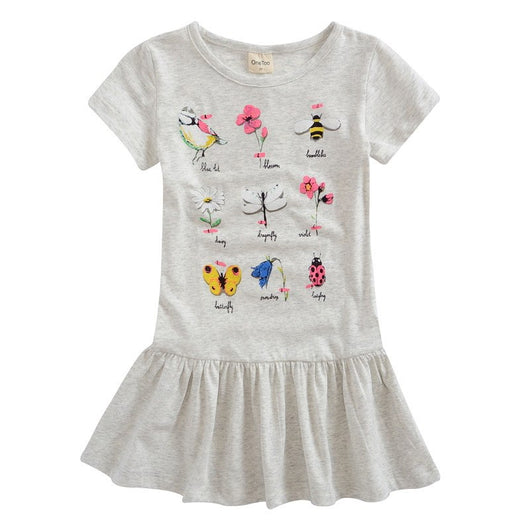 Cute Short Sleeve Grey Tunic Dress for Girls-Fabulous Bargains Galore