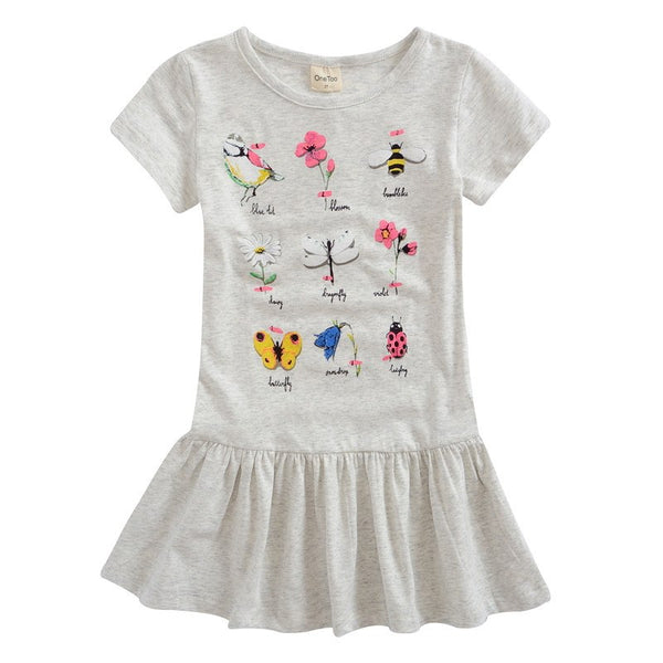 Toddler Girls Cute Grey Summer Tunic Top